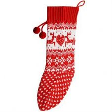 KNITTED CHRISTMAS STOCKING